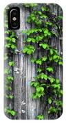 Vines On The Side Of A Barn IPhone Case