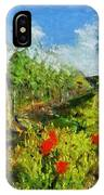 Vineyard And Poppies IPhone Case