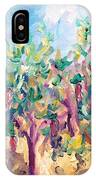 Vineyard In The Afternoon Sun IPhone Case