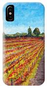 Vineyard On Dry Creek Road IPhone Case