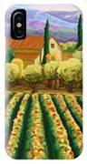 Vineyard With Olives Tuscany IPhone Case