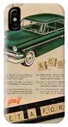 Vintage 1954 Ford Classic Car Advert IPhone Case