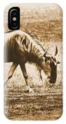 Vintage African Safari Wildbeest IPhone Case