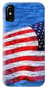 Vintage Amercian Flag Abstract IPhone Case
