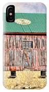 Vintage Barn - Wood And Stone IPhone Case