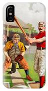 Vintage Baseball Print IPhone Case