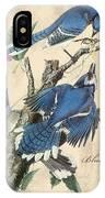 Vintage Bird Study-f IPhone Case