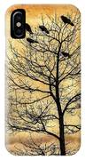 Vintage Blackbirds On A Winter Tree IPhone Case