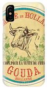 Vintage Cheese Label 1 IPhone Case
