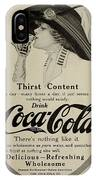 Vintage Coca Cola Ad 1911 IPhone Case