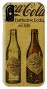 Vintage Coca Cola Bottles IPhone Case