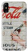 Vintage Coke Sign IPhone Case