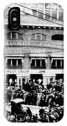 Vintage Comiskey Park - Historical Chicago White Sox Black White Picture IPhone Case