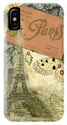 Vintage Eiffel Tower Paris France Collage IPhone Case