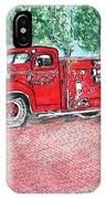 Vintage Firetruck IPhone Case