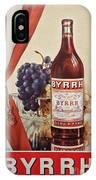 Vintage French Poster Byrrh IPhone Case
