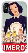 Vintage French Tin Sign Primerose IPhone Case