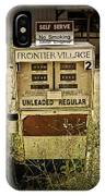 Vintage Gas Pump At An Abandoned Filling Station IPhone Case