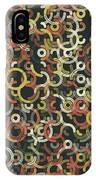 Vintage Geometric Circle Segment Pattern IPhone Case