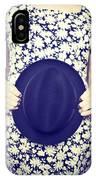 Vintage Hat Flower Dress Woman IPhone Case