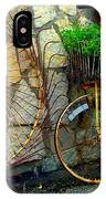 Antique Store Hay Rake And Bicycle IPhone Case