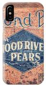 Vintage Hood River Pear Crate IPhone Case