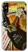 Vintage Hotel Keys IPhone Case