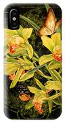 Vintage Iris And Butterflies IPhone Case