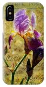 Vintage Iris IPhone Case