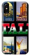 Vintage Italy Travel Posters IPhone Case