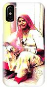 Vintage Just Sitting 2 - Woman Portrait - Indian Village Rajasthani IPhone Case