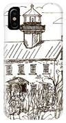 Vintage Lines Of East Point Lighthouse IPhone Case