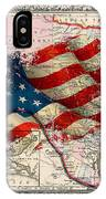 Vintage Map Of Texas 2 IPhone Case
