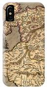 Vintage Map Of Wales 1633 IPhone Case