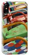 Vintage Metal Outdoor Chairs IPhone Case