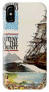 Vintage Mutiny On The Bounty Movie Poster 1962 IPhone Case