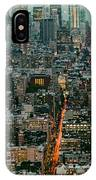 Vintage New York Skyline IPhone Case