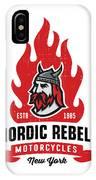 Vintage Nordic Rebels Motorcycles IPhone Case