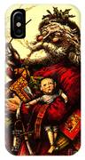 Vintage Original Coca Cola Red Santa Claus Poster IPhone Case