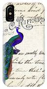 Vintage Peacock Collage IPhone Case