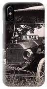 Vintage Photo Of Rural Mail Carrier - 1914 IPhone Case