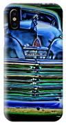 Vintage Plymouth Navy Metalic Art IPhone Case
