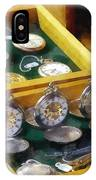 Vintage Pocket Watches For Sale IPhone Case