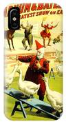 Vintage Poster - Circus - Barnum Bailey Geese IPhone Case