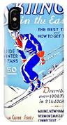 Vintage Poster - Sports - Skiing IPhone Case