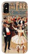 Vintage Poster Fanny Rice At The French Ball IPhone Case