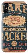 Vintage Quaker Crackers For The Kitchen IPhone Case