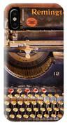 Vintage Remington Typewriter  IPhone Case