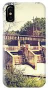 Vintage River Dam IPhone Case