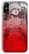 Vintage Ruby Portrait IPhone Case